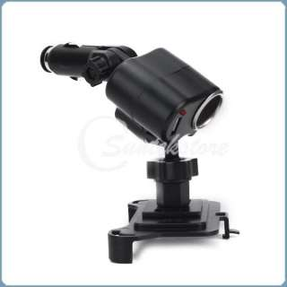 Car Charger Cigarette lighter Mount Holder w/ USB Port Socket For