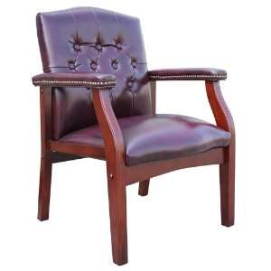 Traditional Style Vinyl Guest Chair