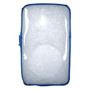 High Quality Amzer Transparent Zipper Case Light Blue For