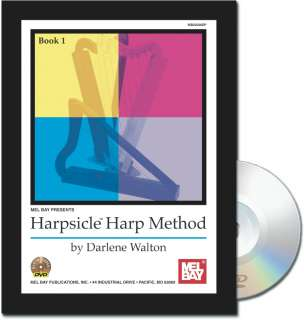 26 STRING GREEN HARPSICLE IRISH CELTIC HARP w/ BOOK NEW