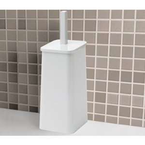White Wooden Free Standing Toilet Roll Holder Cabinet