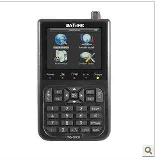 SatLink WS 6908 LCD DVB S FTA Professional Digital Satellite Finder