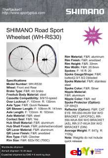 SHIMANO Road Sport Wheelset WH RS30 Road Bicycle Bike