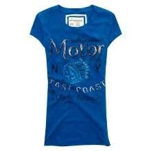 NWT AEROPOSTALE WOMENS BLUE MOTOR CLUB GRAPHIC T SHIRT