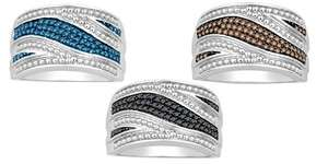 Mother Day Silver Blue or Black or Chocolate Fashion diamond Ring Band