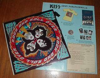 KISS Orig 1976 Rock & Roll Over LP SHRINK w STICKER & INSERT NM