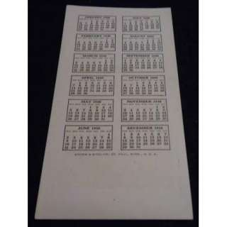 June 1946 Vintage Pinup Calendar EARL MORAN B&B