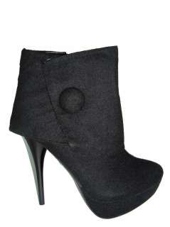 Wild Diva Women High Heel ankle boots Black suede color all sizes cute