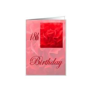Happy 18th Birthday Dianthus Red Flower Card: Toys & Games