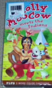MOLLY MOO COW MEETS THE INDIANS ( VHS )PLUS 3 CARTOONS