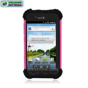 Case+hot Pink Hared Cover+ Black Slcn Case Cell Phones & Accessories