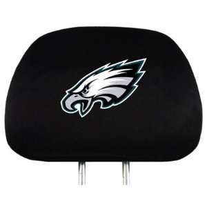 Philadelphia Eagles Logo Car Seat Head Rest Covers, Official Licensed