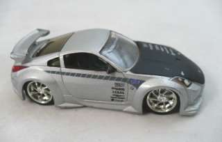 Jada Nissan Z 1/64 scale Silver race car