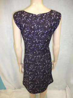 Ann Taylor LOFT Purple Watercolor Dress Casual Dress 10 M Medium