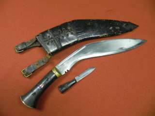 Vintage Indian India KUKRI Set 2 Military Fighting Stag Knife