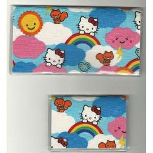 Checkbook Cover Debit Card Holder Set Sanrio Hello Kitty
