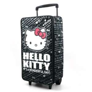 Hello Kitty Carry On Luggage Black Toys & Games
