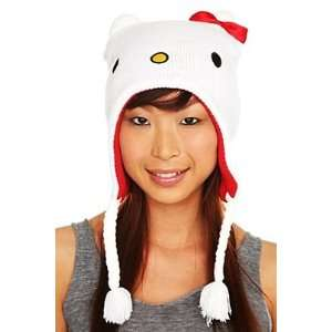 HELLO KITTY WHITE PERUVIAN BEANIE