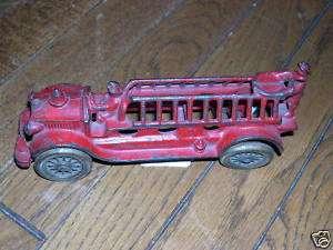 Circa 1936 Cast Iron Hook & Ladder Fire Truck Toy