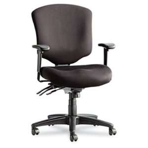 Wrigley Pro Series Mid Back Multifunction Chair w/Seat Glide, Black