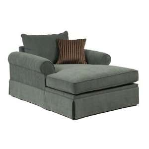 Clean ashley furniture microfiber chaise lounge sofa for Ashley chaise lounge sofa