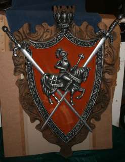 Antique 3D Coat of Arms Metal & Wood   WWII Philippines   Vintage