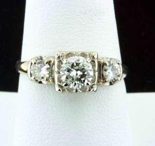 VINTAGE 1.01 CARAT DIAMOND ENGAGEMENT RING 14K GOLD