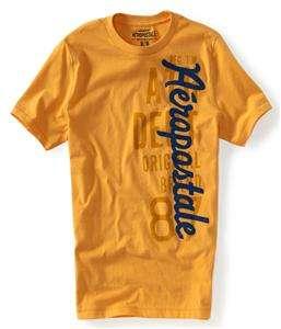Lot 3 Aeropostale Logo Mens T Shirts Shirts Large White Black Yellow
