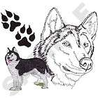 siberian husky dogs embroidered bath kitchen towels by susan expedited