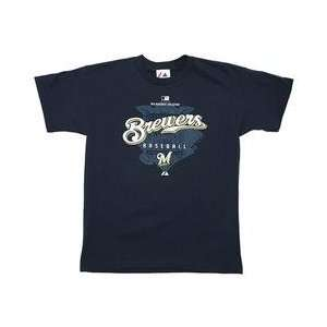 Milwaukee Brewers AC Youth Momentum T shirt by Majestic
