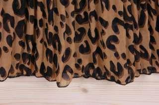Leopard long chiffon skirt vintage maxi dress Y22800 gray sz XS S