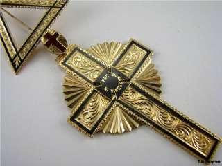 KNIGHTS TEMPLAR   14K Yellow Gold Medal JEWEL Past Emminent Commander