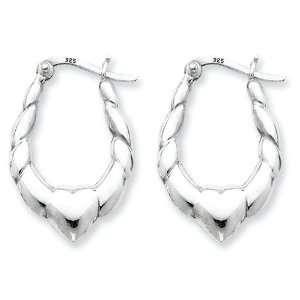 Sterling Silver Heart Hoop Earrings West Coast Jewelry