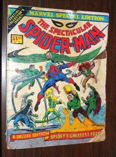 1975 THE SPECTACULAR SPIDER MAN COMIC MARVEL SPECIAL EDITION Vol. 1 No