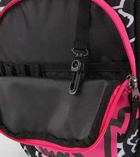 NEW FOX RACING Black/Hot Pink Backpack Tote Bag Purse