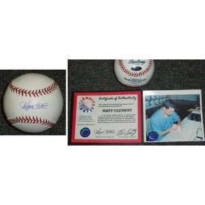 Matt Clement Signed MLB Baseball