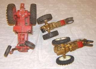 Old 1960s cast metal International Harvester tractors vintage toy