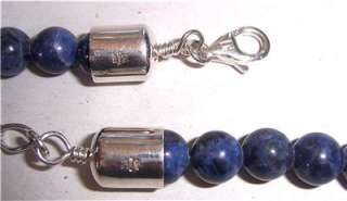 Jay King Mine Finds Sodalite & Sterling Silver Bead Necklace & Pendant