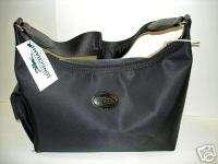 Longchamp Black Planetes Handbag Leather Bag Purse NEW Tote Pocket Bag