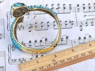 Zircon Crystal Rhinestone Snake Animal Bracelet Bangle Cuff