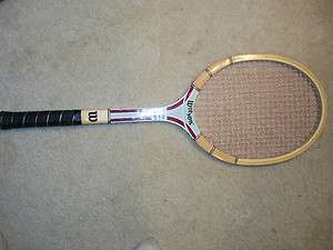 Wood Wilson Autograph Tennis Racket Jimmy Connors Champ w/cover