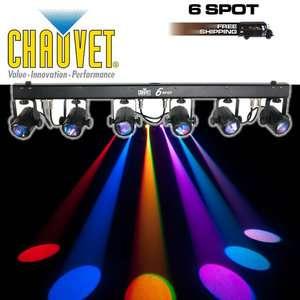 CHAUVET LIGHTING 6SPOT LED DMX DJ RGB 6 HEAD LIGHT BAR 613815571971