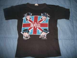 vtg THE BEATLES 1970s Lennon McCartney t shirt S rare