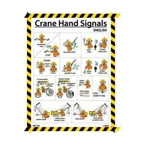 PST110   Poster, Crane Hand Signals, 24 X 18, Laminated