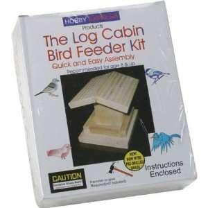 Pine Pro Hobby Express Log Cabin Bird Feeder Kit: Toys & Games