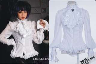 21094 PUNK VISUAL KEI LACE GOTHIC QUEEN CLIP SHIRT S~XL