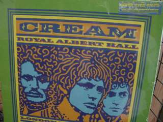 CREAM ALBERT HALL 2005 CLAPTON BAKER BRUCE SEALED 3 LP BOX HALF SPEED
