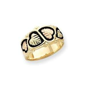 color Blk Hills Gold Mens Wed. Band Ring Sz 10   JewelryWeb Jewelry