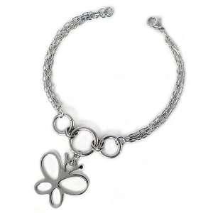 Ladies Charm Bracelet with Butterfly West Coast Jewelry Jewelry