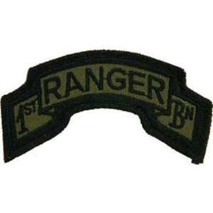 U.S. Army 1st Ranger Battalion Patch Green: Patio, Lawn